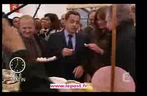 PHOTOS et VIDEO : Quand Carla et Nicolas Sarkozy vont au marché de bon matin...(réactualisé)