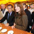 Carla et Nicolas Sarkozy au marché de Rungis