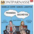Affiche du spectacle Pensées Secrètes, joué au Théâtre Montparnasse dès le 19 janvier 2011.