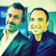 Hugh Laurie est interviewé par Nikos Aliagas pour la matinale d'Europe 1 le mardi 13 décembre 2011