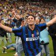 Javier Zanetti, 38 ans, capitaine emblématique de l'Inter Milan, deviendra en 2012 père pour la troisième fois. Sa femme Paula est enceinte !