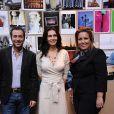 Lara Fabian, Bernard Montiel et Jennifer Boccara, directrice de l'hôtel de Sers, pour la remise du Prix de l'hôtel de Sers, à Paris, le 14 décembre 2011.