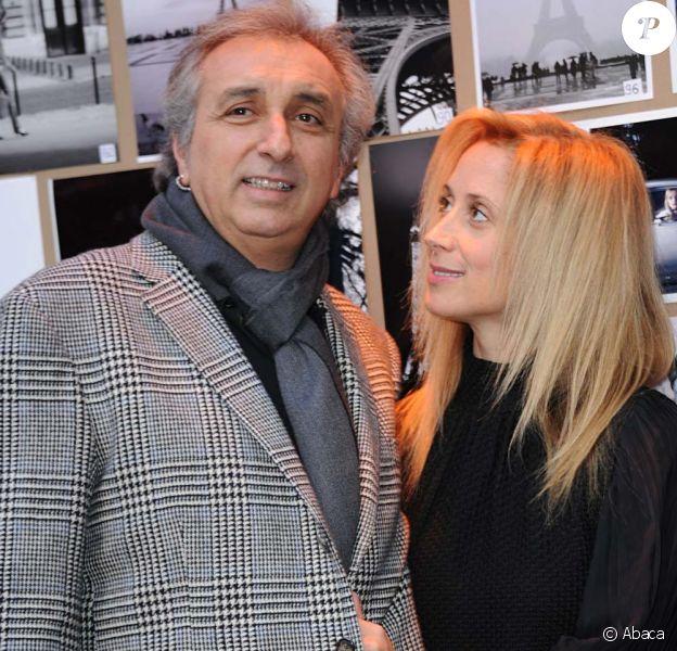 Lara Fabian et Gérard Pullicino pour la remise du Prix de l'hôtel de Sers, à Paris, le 14 décembre 2011.