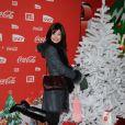 Delphine Chanéac lors d'une soirée au profit de l'association Petits  Princes et de  lancement du train rouge Coca Cola, le 15 décembre 2011, à  Paris
