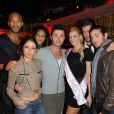 Rudy, Zelko ainsi que Benjamin Godard lors de l'élection de Miss Nationale 2012 à Pau Brasil à Paris, le 18 décembre 2011