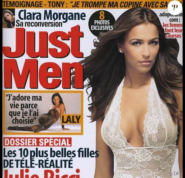 Julie Ricci de Secret Story 4 en couverture de Just Men