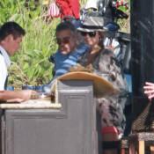 George Clooney et sa chérie Stacy sous le soleil, avec Cindy Crawford en famille