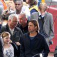 Brad Pitt sur le tournage du film World War Z en août 2011 en Ecosse