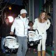 Mariah Carey, Nick Cannon et leurs jumeaux le 31 décembre 2011 à Aspen