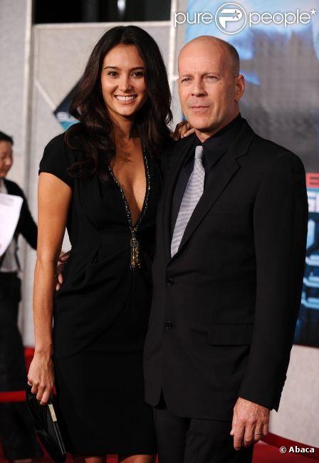 Emma Heming et Bruce Willis en 2009