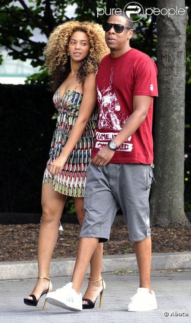 Beyoncé knowles et jay-z à new york le 16 juillet 2011