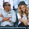 Beyoncé Knowles et JAy-Z lors de l'US Open à New York le 12 septembre 2011