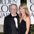 Steven Spielberg et sa femme Kate Capshaw aux Golden Globes, le 15 janvier 2012 à Los Angeles.