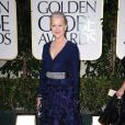 Helen Mirren aux Golden Globes, le 15 janvier 2012 à Los Angeles.