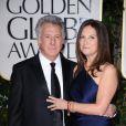 Dutin Hoffman et Lisa Gottsegen aux Golden Globes, le 15 janvier 2012 à Los Angeles.
