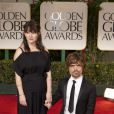 Peter Dinklage et sa femme Erica Schmidt aux Golden Globes, le 15 janvier 2012 à Los Angeles.