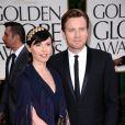 Ewan McGregor et sa femme Eve Mavrakis aux Golden Globes, le 15 janvier 2012 à Los Angeles.