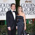 Colin Firth et sa femme Livia aux Golden Globes, le 15 janvier 2012 à Los Angeles.