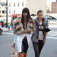 Irina Shayk et Jessica White : deux top models au Madison Square Garden pour assister à la défaite des New York Knicks face aux Orlando Magic. New York, le 16 janvier 2012.