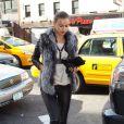 Irina Shayk se rend au Madison Square Garden à New York, le 16 janvier 2012.