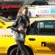 Irina Shayk débarque avec style et élégance au Madison Square Garden à New York pour assister à un match de basket. Le 16 janvier 2012.