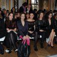 Le premier rang bien garni du défilé haute couture Christophe Josse à Paris, le 23 janvier 2012.