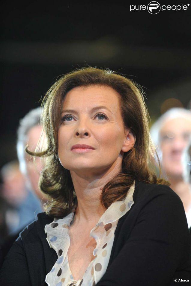 Valérie Trierweiler lors du rassemblement de son compagnon François Hollande au Bourget, le 22 janvier 2012.