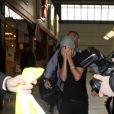 Justin Bieber arrive à l'aéroport de Nice, le 29 janvier 2012