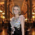 Sylvie Tellier lors de la soirée de gala au château de Versailles, au profit de l'association AVEC (Association pour la vie espoir contre le cancer), le 30 janvier 2012