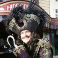 David Hasselhoff dans la peau du Capitaine Crochet en décembre 2011 à Bristol