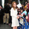 Lana Del Rey arrive dans les studios de David Letterman, à New York, le 2 février 2012.