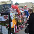 Devant le Whigham Funeral Home de Newark, le 14 février 2012.