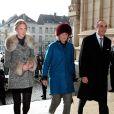 La princesse Astrid et le prince Lorenz étaient accompagnés  de leur fille de 23 ans, la princesse Maria Laura de Belgique.   La famille royale belge s'est rassemblée en l'église Notre-Dame de Laeken au matin du 16 février 2012 pour honorer la mémoire de ses défunts aïeux et se recueillir dans la crypte royale.