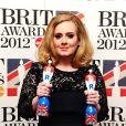 Adele aux Brit Awards, à Londres, le 21 février 2012.