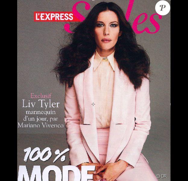 Liv Tyler en couverture de L'Express Style