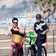 Pink, Carey Hart et leur fille Willow Sage, à Santa Monica, le 4 mars 2012.