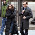 Leighton Meester et Ed Westwick sur le tournage de Gossip Girl, le 5 mars 2012 à New York