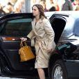 Leighton Meester sur le tournage de Gossip Girl, le 5 mars à New York