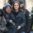 Leighton Meester sur le tournage de Gossip Girl, le 5 mars 2012 à New York