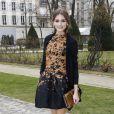 Olivia Palermo à Paris lors du défilé prêt-à-porter Christian Dior. Le 2 mars 2012.