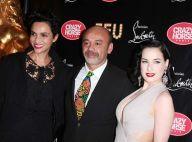 Christian Louboutin et ses stars Dita Von Teese, Arielle Dombasle au Crazy Horse