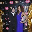 Ali Mahdavi et Noémie Lenoir à la première VIP de la revue  Feu  du Crazy Horse, à Paris, le 12 mars 2012.