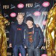 Pierre et Gilles à la première VIP de la revue  Feu  du Crazy Horse, à Paris, le 12 mars 2012.