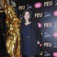 Valérie Lemercier à la première VIP de la revue  Feu  du Crazy Horse, à Paris, le 12 mars 2012.