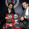 Arié Levy et Tomer Sisley lors du dîner de gala pour l'association SSF sauveteurs sans frontières, au 1515, le 12 mars 2012