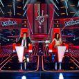Le jury de The Voice composé de Garou, Louis Bertignac, Jenifer et Florent Pagny.