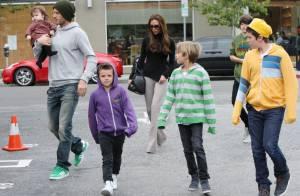 David Beckham et Victoria : Sortie gourmande avec leurs superbes enfants