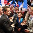 Nicolas Sarkozy en meting à Lyon le 18 mars 2012