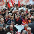 Jean-Luc Mélenchon lors de son grand rassemblement populaire de la Bastille le 18 mars 2012 à Paris
