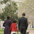 Michelle Obama en famille et incognito à la sortie d'une église le 18 mars 2012